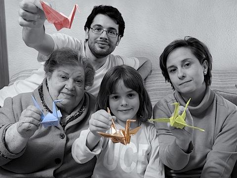 2001-2004. Caty, Maria, Maricarmen  y Agustín